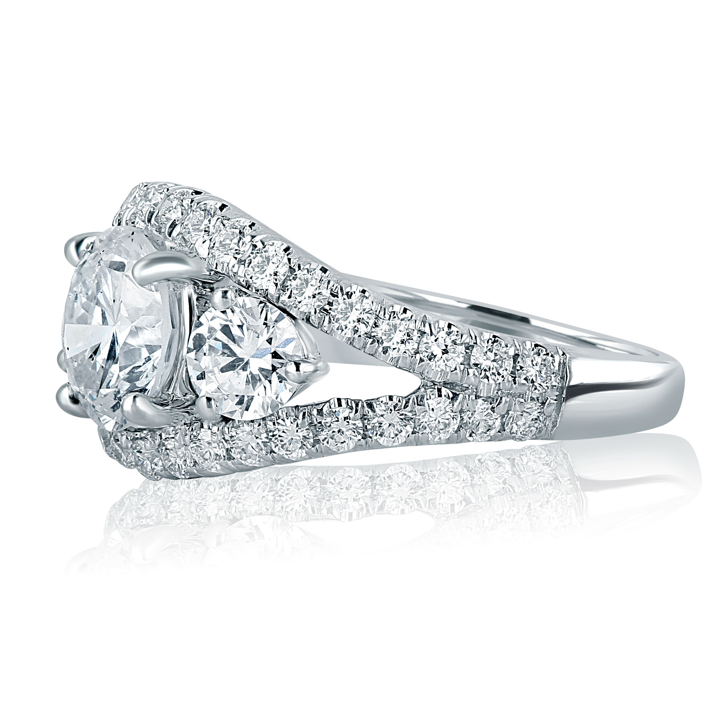1.50 CT Marquis-Coupe magnifique solitaire Bridal Ring Set 14K Or Blanc Finition