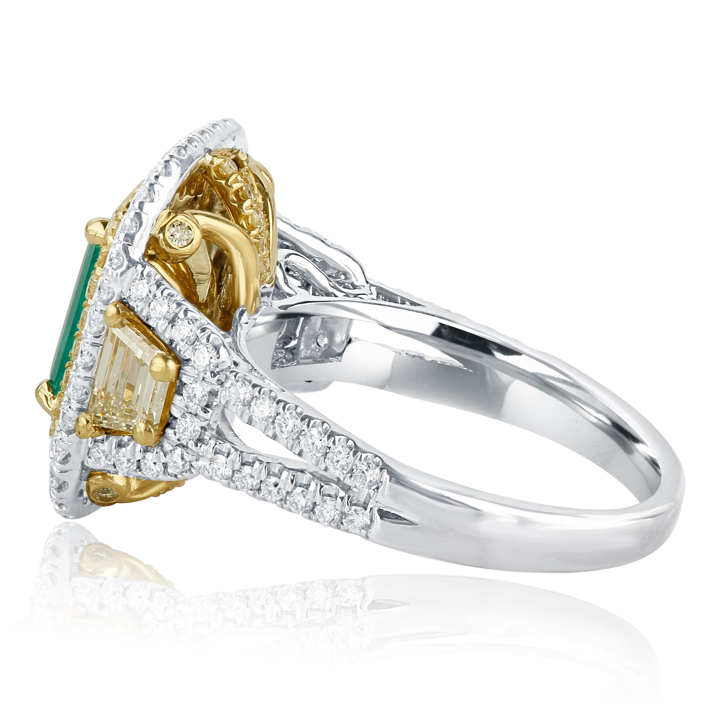 Efficient Sparkling Genuine Natural Fancy Diamond Ring In Sterling Silver 0.28ct Jewelry & Watches Fine Rings