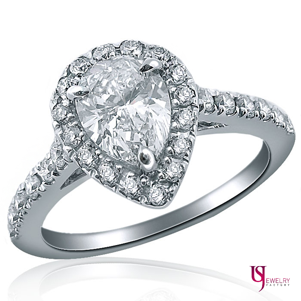 1 20ct pear shaped promise halo engagement